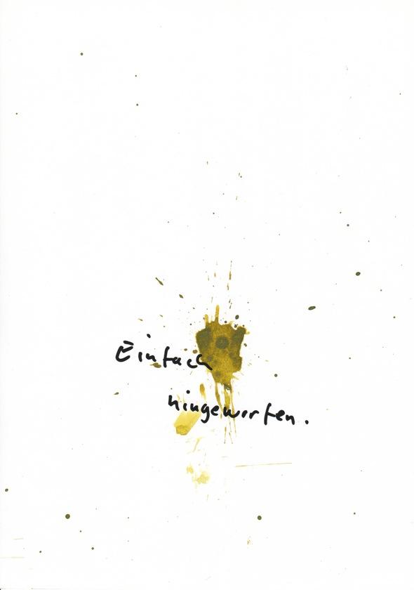 """Harald Falkenhagen, """" Einfach hingeworfen"""", 2009, Tusche auf Papier, DIN A4"""